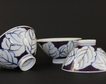 Japanese Rice Bowls, Hand Painted Rice Bowls