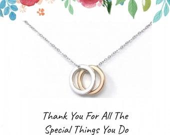 Thank you Gift - Thank you Necklace - Inspirational Jewelry Teacher Necklace: Teacher Appreciation Gift, Gifts for Teacher, Teacher