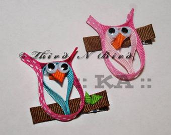 Owl Bird Hair Clip Ribbon Sculpture Instruction Set