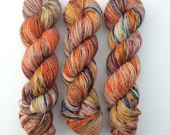 Free Spirit, DK, hand dyed yarn, indie dyed yarn, speckled yarn, wool