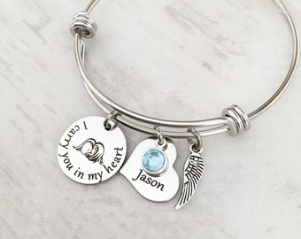 Child Loss Memorial Bracelet - Sympathy Gift for Her - Mother's Miscarriage Jewelry - I carry you in my heart