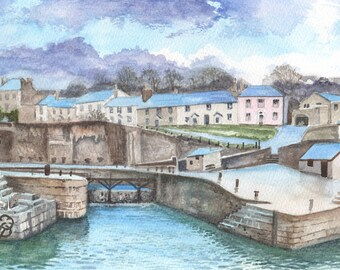 Charlestown, ORIGINAL watercolor painting, FREE shipping