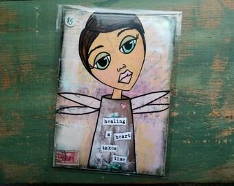 """VENTE!  Inspiration Art Print, 5 """"x 7» soldes Mixed Media impression, vente imprimer, impression, imprimer inspiration, fille lunatique, la fille de guérison"""