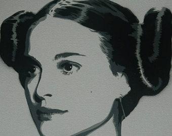 Stencil (Padme Star Wars)