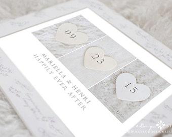 Wedding Date Print, Personalized Wedding Gift, Wedding Date Art, Wedding Present, Unique Wedding Gift, Wedding Gift, Wedding Print