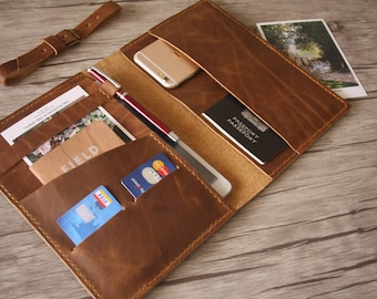 Your Logo - Corporate Gifts Leather Portfolio, A5 size / Business Gifts, Employee Gifts, Conference Gifts