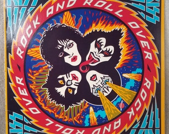 """KISS 1976 Rock and Roll Over (NBLP 7037) 12"""" Vinyl 33 LP Casablanca Records Hard Rock - Calling Dr. Love - Hard Luck Woman - I Want You"""