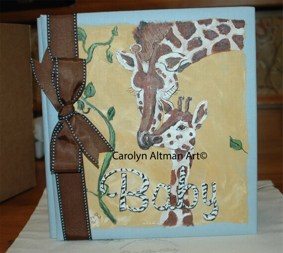 Giraffe and Baby a Baby Memory Book