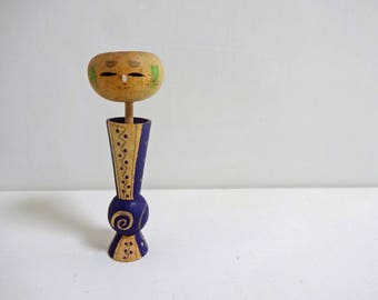 4inch Vintage Japanese Miniature Wood KOKESHI Doll