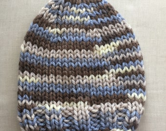 Bulky Knit Cap and Scarf