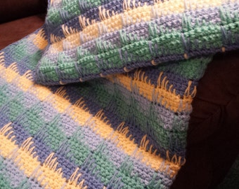 custom made to order hand crocheted baby blanket