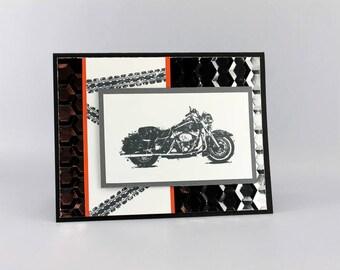 Fabriquées à la main moto carte d'anniversaire - carte moto masculin - Stampin '! Born to Ride carte de voeux d'anniversaire