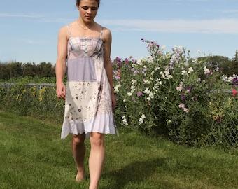 upcycled dress XS - S upcycled clothing, upcycled fashion, summer dress . perdue