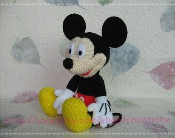Mickey mouse 10 inches - PDF amigurumi crochet pattern