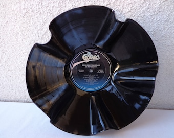 1980 REO SPEEDWAGON Hi Infedelity Vinyl Record Bowl. RePurposed Vinyl Record. Record Bowl. REO Speedwagon Fan Gift. Music Room Decor. Rock