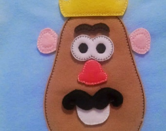 Mr Potato addon face set includes 9 pieces felt mat game educational game learning toy Eco-Friendly felt game #3846