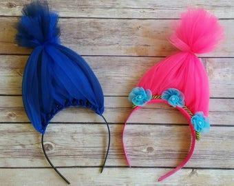 Princess Poppy costume, Branch headband, princess poppy headband, trolls costume, halloween costumes, girls costume, MizThings, trolls