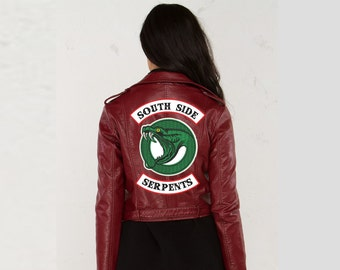 IRON ON PATCHES Riverdale Jacket diy Cheryl Blossom Toni Topaz South Side Serpants Embroidery Patch Jughead Cole Sprouse Halloween Costume