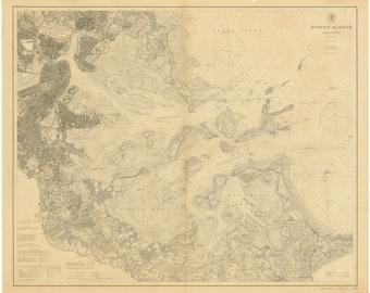 Boston Harbor, MA - 1902 Nautical Map  - Reprint - 20000 Harbors 337