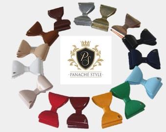 Panache Patent Leather bow