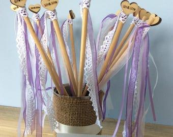 Set of twelve Wedding Wands.