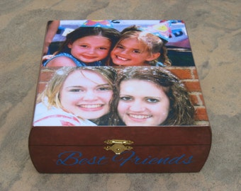 Personalized Sister Gift, Maid of Honor Keepsake Box, Custom Memory Box, Bridesmaid Gift, Unique Best Friends Keepsake Box, Birthday Gift