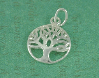 Sterling Silver Tree of Life - 12mm - Sold By The Pair