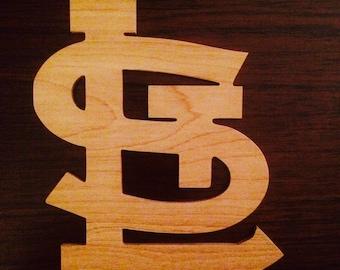 Saint Louis Cardinals emblem made of wood