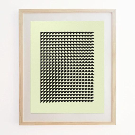 Geo Motion 1 - Geometric Pattern Screenprint. Art Poster Print.