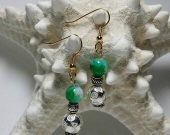Silver Ocean handmade earrings