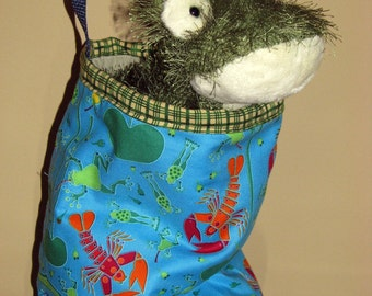 Frog In a Bag - Tote Bag For Kids, Including a Frog Stuffie!