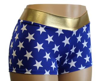 Wonder Woman Cosplay Booty Shorts by Dilly Duds™  Toddler, Adult, and Plus Sizes Available.