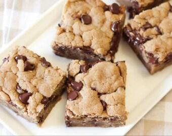 Gluten Free Vegan Chocolate Chip Peanut Butter Cookie Bars