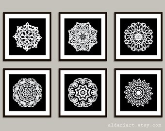 Mandala Art Prints - 8x8 - Modern Medallion Wall Art