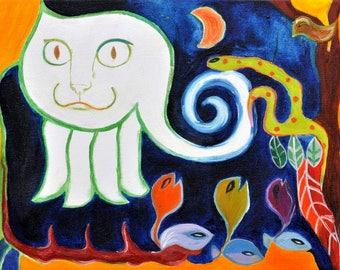 Alice's cat - original painting