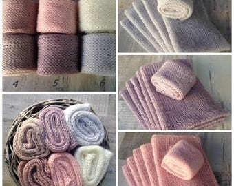 CLEARANCE SALE! Newborn blanket, Newborn baby wrap, Photography blanket, Knit baby cocoon, Wrap,Mohair knit blanket, Newborn prop, RTS