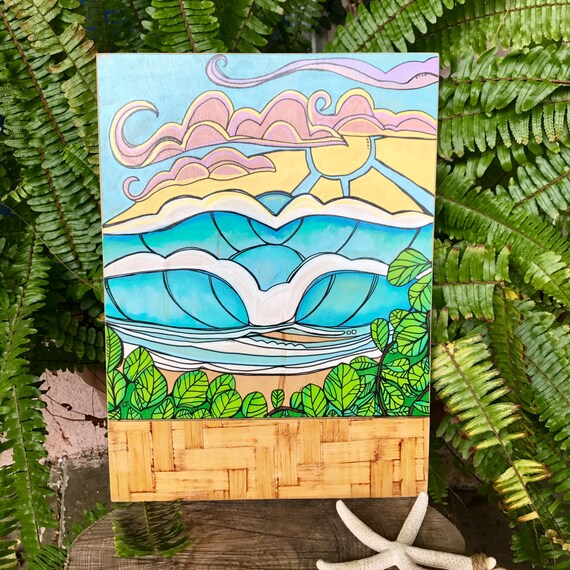Original Painting Peace After the Storm Surf Art by Lauren Tannehill