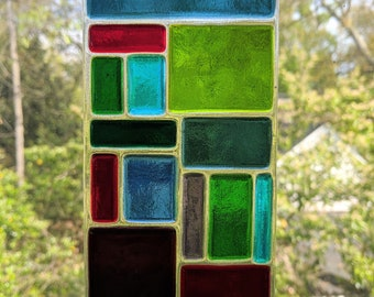 Fused glass suncatchers