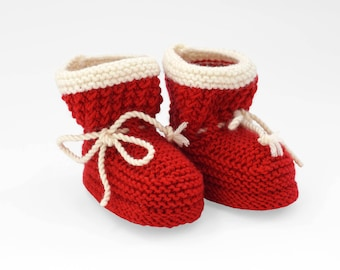 Red ankle boots, Red booties for baby girl, knitted booties, red shoes, Christmas Baby socks, Red Baby booties, Baby shower, ugg boots cheap