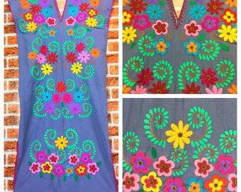 Hand Embroidered  Dress, Festival dress, Handmade dress