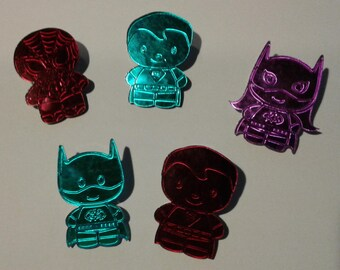 DC chibi super heroes pins