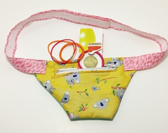 MADE by ADDISON Fanny Pack Waist Belt Pouch  - gift for girls, RANDOM pattern, made to order, fabric,birthday, summer, back to school