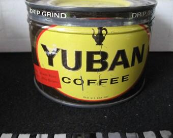 Vintage Collectible Yuban Coffee Tin-keywind-original lid
