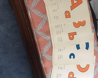 Giant Alphabet Cards by Platt and Munk, 1961