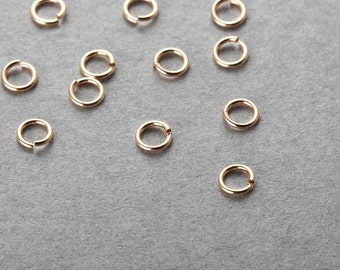 14/20 Gold Filled 4mm / 23 Gauge Jump Ring, Gold Filled Findings - [GF0002]