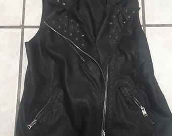 Forever 21 Leather Studded Vest.
