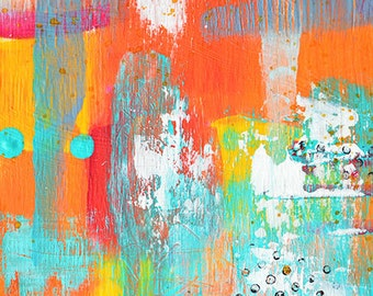 Colorful Chaos - Original 6x8 abstract painting