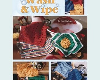 Leisure Arts Crochet Pattern Leaflet Wash & Wipe Part No. 2546