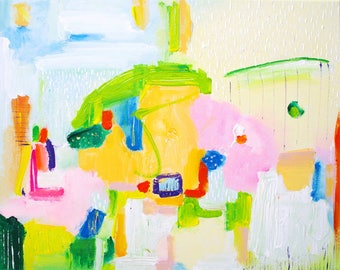 Original pastel abstract art painting Pastel painting - pastel abstract art acrylic - art abstract pastel art - abstract painting