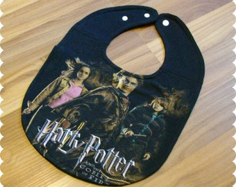 Harry Potter Baby Bib, Recycled T-Shirt Baby Bib, Baby Shower Gift, Gender Neutral Baby, Goblet of Fire